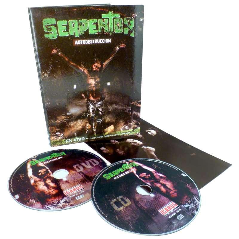 SERPENTOR - Autodestruccion - DVD + Cd Digipack