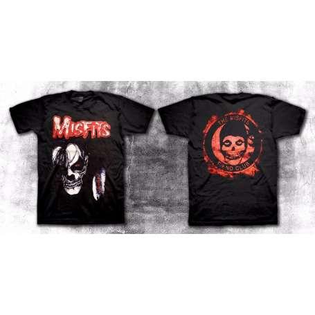 MISFITS  - Skull Roja Remera