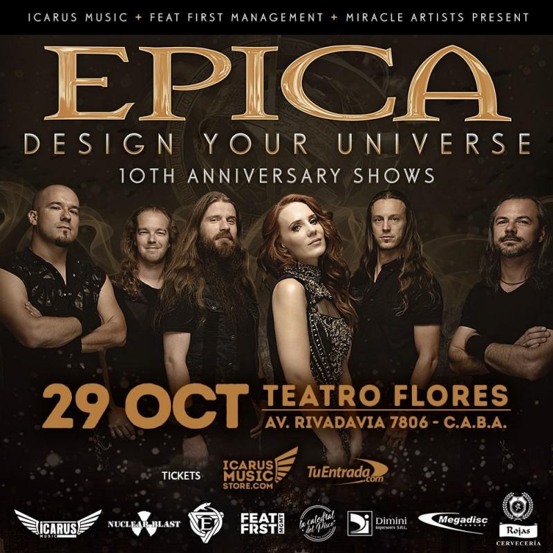 Epica en Argentina 2019 - Design Your Universe 10° Aniversario (General)