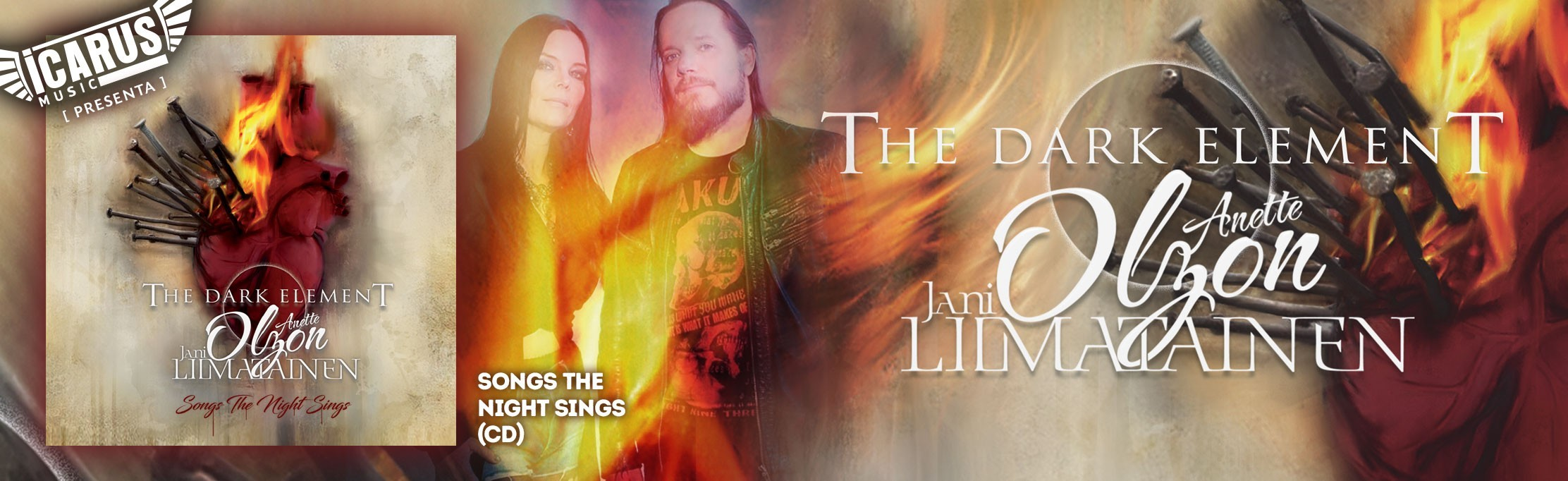 THE DARK ELEMENT - Song the Night  Sings - Cd El proyecto finlandés creado por Anette Olzon, ex cantante de Nightwish, junto a Jani Liimatainen