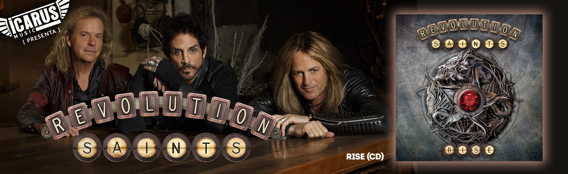 REVOLUTION SAINTS - Rise - Cd Revolution Saints, el supergrupo con Deen Castronovo