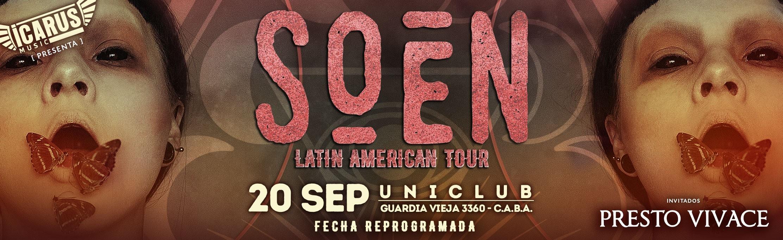 SOEN en ARGENTINA - 20/9/2020 - Latinamerican Tour