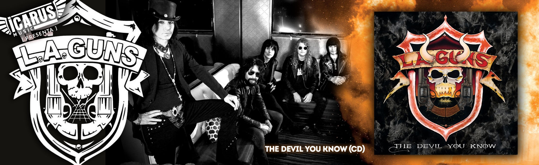 L.A. GUNS - The devil you know - Cd  Musicalmente, «The Devil You Know» cubre muchos estilos e incorpora influencias desde Black Sabbath a Led Zeppelin