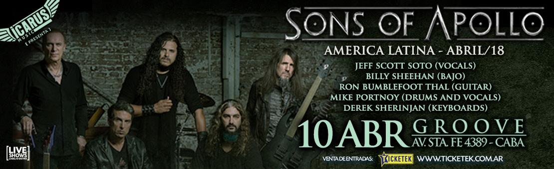 SONS OF APOLLO EN ARGENTINA - AMERICA LATINA - ABRIL/18